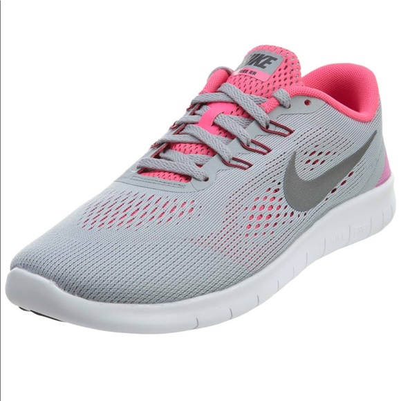 d626ea569a31 Nike Kids Free RN Running Shoes for girl Grey Pink.  M 5bfb774cd6dc529cdb806991